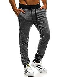 OZONEE Pantalones para hombres Pantalones deportivos Pantalones para correr  Pantalones de chándal para hacer fitness Jogger 20b8915e2505