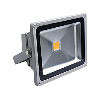 Auralum 20W IP65 Waterproof LED Floodlight High Power Warm White(2800K) Energy Saving Outdoor Spotlight