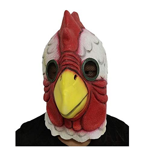 YaPin Halloween Weihnachtsmaske Neuheit Hotline Miami Rooster Mask Kostüm Spielen Party Requisiten Cock Mask Latex