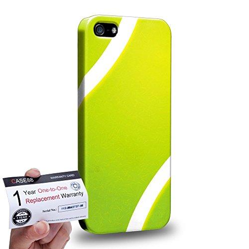 Case88 [Apple iPhone SE] 3D Hülle / Schutzhülle & Garantiekarte - Art Sports Tennis Ball -