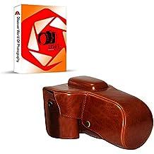 DWL Funda de piel sintética para Pentax K5II K5II K30K50W/18–Lente de 55mm/18–135mm, color marrón