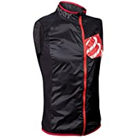 Compressport Hurricane - Chaleco cortavientos, color negro, talla S