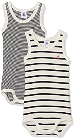Petit Bateau Baby Body SM_23180 Bodysuit, Mehrfarbig (Special Lot 00 00), 18-24 Months pack of 2