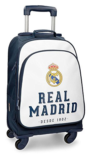 Real Madrid RM GOL Equipaje de Mano, 50 cm, 33.6 litros, Blanco