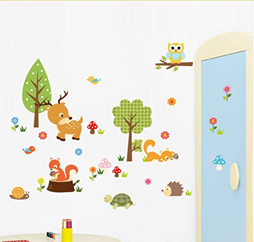 Dschungel Wilde dekorative Wandkunst Aufkleber verrückte Safari Abenteuer Tiere Baby Kinder Kinderzimmer Wandaufkleber Abziehbilder