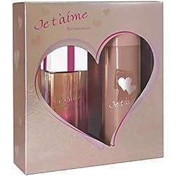 JE T'AIME Passionnément • Coffret pour Femme • Eau de Parfum 100 ml + Déodorant 150 ml • Vaporisateur • Spray • Parfum Femme • Cadeau • EVAFLORPARIS