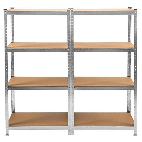 TecTake Werkstattregal mit 8 Ablagen 640kg Gesamttraglast Steckregal Lagerregal Werkbank Garage 160x160x40cm - 3
