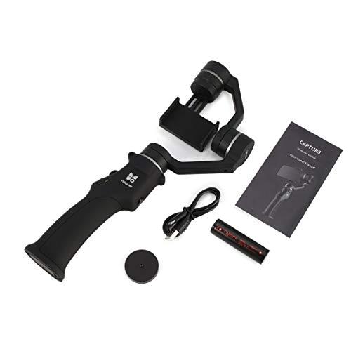 LouiseEvel215 Erfassen Sie Smartphone Selfie Brushless Stabilizer Handheld 3-Achsen-Gimbal für GOPRO/YI/Sargo Sport Action Cam Phone -