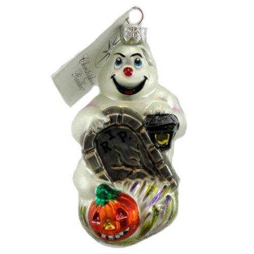 Christopher Radko FRIGHT D'LIGHT Blown Glass Ornament Halloween Ghost Grave by Christopher Radko