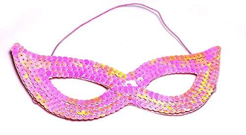 (Inception Pro Infinite Maske - Rosa - Karneval - Halloween - Venezianisch - Frau - Pailletten)
