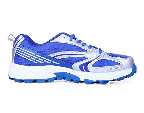 Nivia Eden Cricket Shoes, Men's 8 UK (Blue/Silver)  available at amazon for Rs.1360