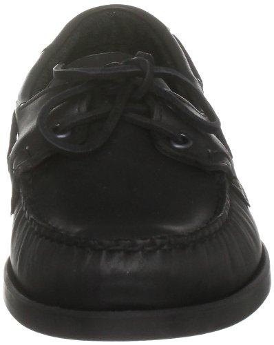 Sebago Docksides B72, Chaussures Bateau Homme Noir (cuir Noir)