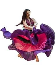 3Color 25Yarda yardas Tribal Gitana algodón danza del vientre Danza Falda ATS 09