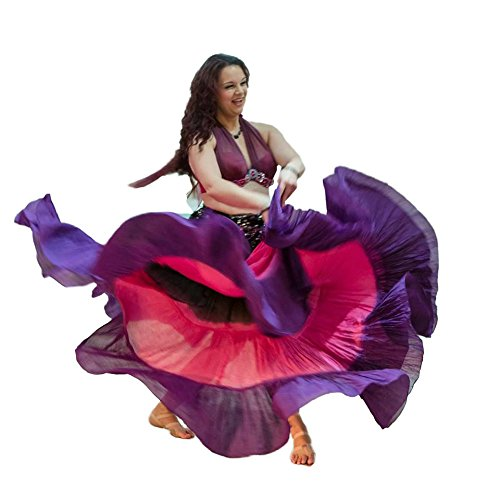 Dancers World donna gypsy 22,9m Shaded colore cotone gonna Black Pink Purple