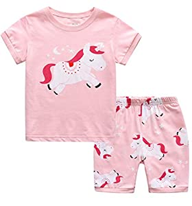 MIXIDON Niña Pijamas Unicornio Infantil