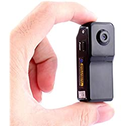 Wifi P2P Kamera, Mini IP Camera, Portable Kamera im Freien Innen drahtlose Video Camcorder Cam Netzwerkkamera Autokamera Fahrradkamera Haus Sicherheit für Pflege frühen Pflege Remote-Ansicht MD81S