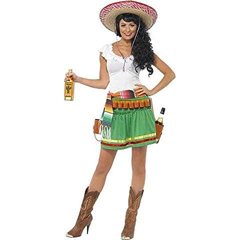 Tequila shooter messicana Costume, da donna, taglia