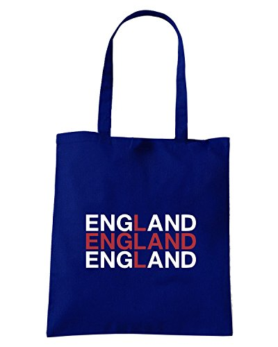 T-Shirtshock - Borsa Shopping WC0336 ENGLAND Blu Navy