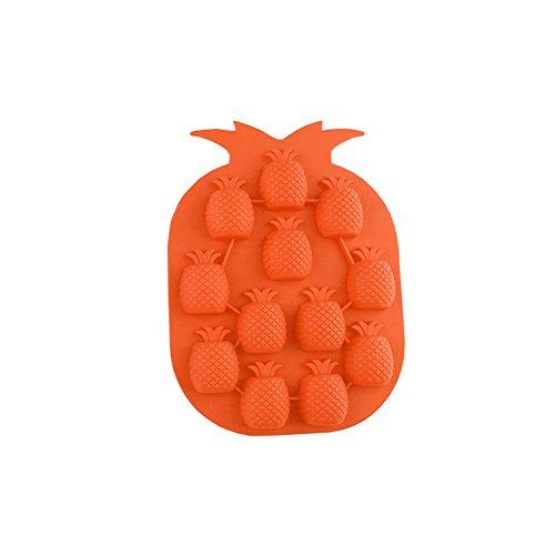 GerTong Eiswürfel, Silikon-Form Ananas Eiswürfelform mit Schokolade, Gelee-Form Eismaschine Trinken Küchen-Zubehör, zufällige Farbe