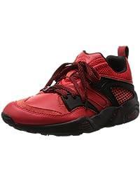 Puma Bog Red Rise X Blaze Of Glory Trinomic Sneaker Men Leather