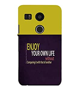 printtech Cool Quotes Back Case Cover for LG Google Nexus 5X::LG Google Nexus 5X (2nd Gen)