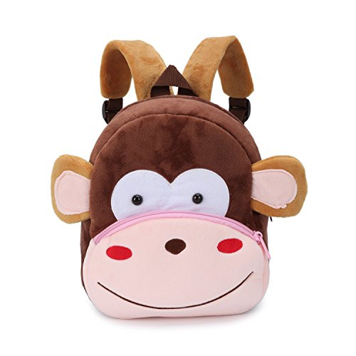 Nette Kleine Kleinkind Kinder Rucksack Plüsch Tier Cartoon Mini Kinder Tasche für Baby Mädchen Junge Alter 1-3 Jahre - Affe