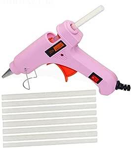 GLUN 20 WATT Leak Proof Glue Gun with 5 8-inch Long Glue Sticks