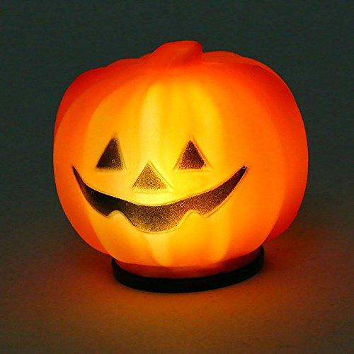 (DDU 1 PC Halloween Mini LED Laterne Kürbis Nachtlicht Lampe Batterie Dekoration Prop Kleine)