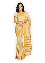 Pavechas Saree with Blouse Piece (MK3045_Beige_One Size)