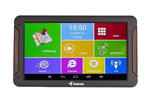 Elebest Pro A600 Navigationsgerät 17,8cm 7 Zoll Display,Android 6.0,WiFi,Radarwarner,Tablet PC,Für Wohnmobil,LKW,PKW,mit 32GB Speicher,Bluetooth,Kostenlose Kartenupdate