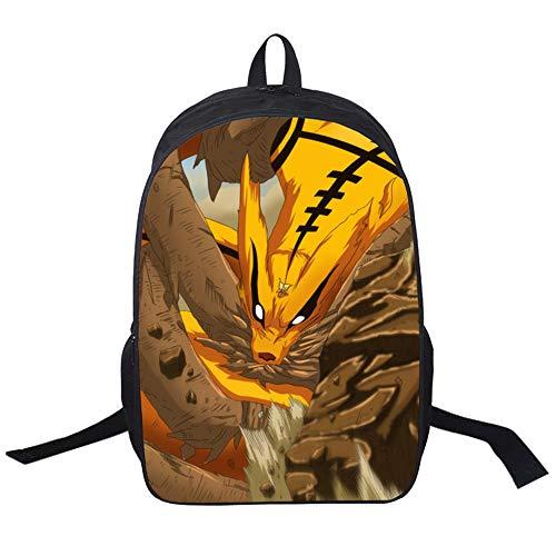Unisex Naruto Mode Cartoon Kinder Schultasche Einfache Sport Daypack Lässig Rucksack für Jungen und Mädchen Wasserdichte Daypack Spiel Gedruckt Rucksack