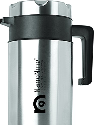 NanoNine Stainless Steel Tea Pot, 700ml, Black
