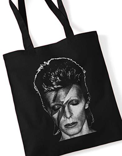 David Bowie/Stoffbeutel Jutebeutel Tote Bag/SCHWARZ Black
