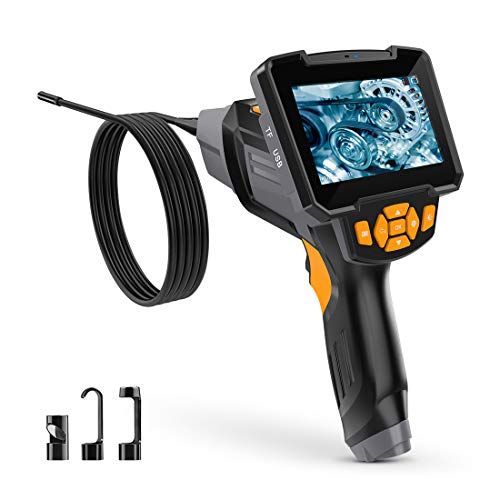 Endoskopkamera Digital Inspektionskamera 5 M Hand Endoskop Kamera Wasserdicht 4,3 Zoll-LCD-Bildschirm 1080P HD Boreskop Video Kamera für Lüftungsrohr Maschinenausrüstung