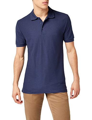 Fruit of the Loom Herren 65/35 Poloshirt, Blau-Blue (Deep Navy), L - Navy Blue Hoodie-shirt