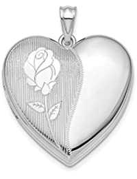ICE CARATS 925 Sterling Silver Flower Ash Holder Heart Photo Pendant Charm Locket Chain Necklace That Holds Pictures Fine Jewelry Gift Set For Women Heart