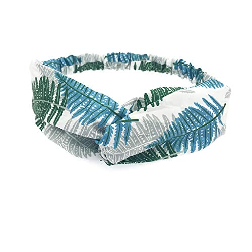 ho Stirnband Frauen-elastisches nettes Druckhaarband-Turban geknotetes Haarband Bandanas-Stirnband Frauen Vintage Blumendruck headwrap ()