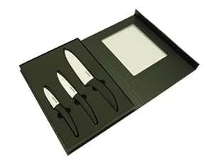 Lot de 3 couteaux exclusif renschler line boîte de 3 couteaux en céramique