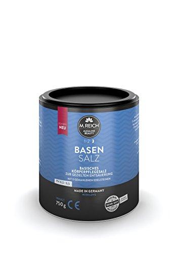 M.Reich Basensalz | 750g Basenbad zur Entsäuerung und Entgiftung | Dermatest Sehr Gut | Als...