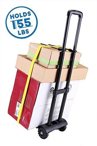 Imagen de carretilla de mano plegable, royi carritos para equipaje con 4 ruedas carga máxima 70 kg/155 lbs  después de plegar se puede poner en la   negro alternativa