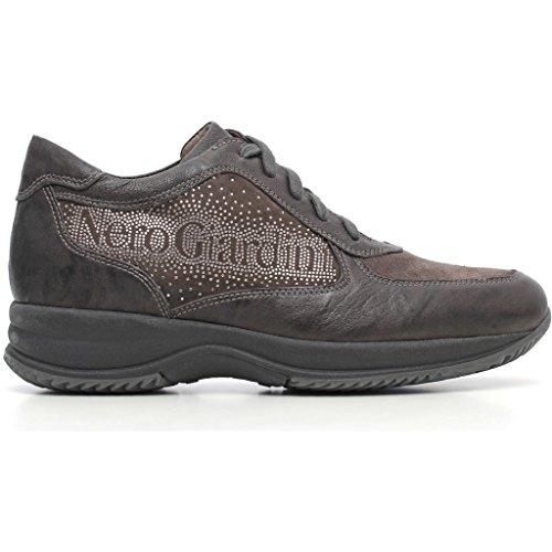 Sneakers Nero Giardini a616060d Stringate basse con suola zeppata Donna Grigio(piombo) autunno inverno 2017,EU 36