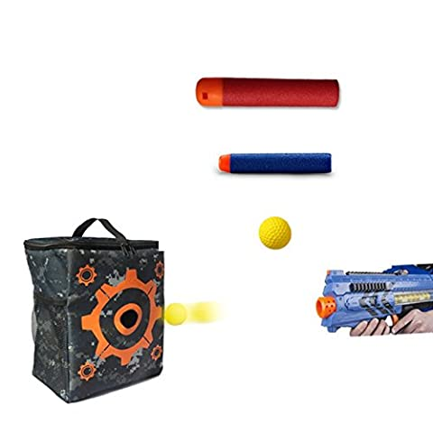 CYNDIE Target Pouch for Nerf N-strike Elite Series 2 in 1 Target Storage Carry Equipment Bag for Blasters Refill Clip Darts