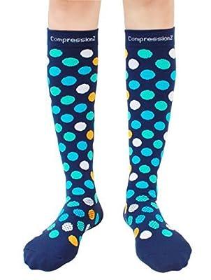 Kompressionsstrümpfe (Spaß Muster 20-30mmHg) Herren & Damen Laufen Freizeit Socken von CompressionZ von CompressionZ auf Outdoor Shop