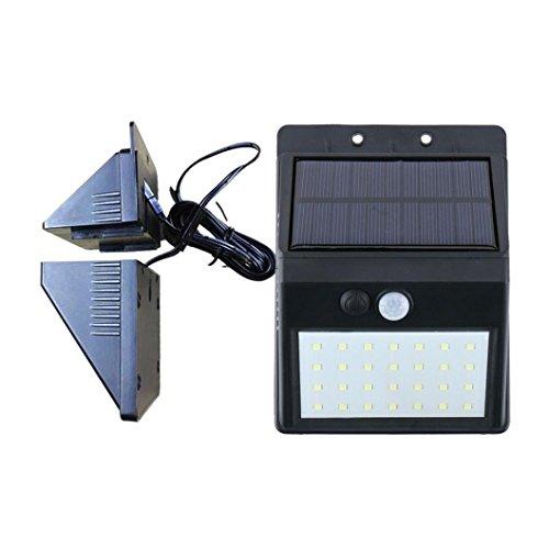 STRIR Foco Solar Exterior,Luz Solar Jardín de 28 LED, Luces Solares con Sensor de Movimiento, Gran Ángulo 120°, Luces Solares de Seguridad con3 modos inteligentes para Terraza, Garaje, Camino de Entrada