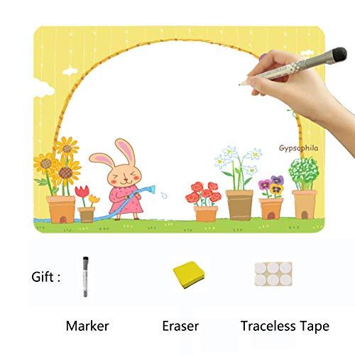 XM&ZF Cartoon-Grenze Trocknen sie Erase Message-Boards,Magnetisches Kühlschrank Memoboard Whiteboard Graffiti Malerei Familienplaner Für küche Kinder (9 x 13'')-P