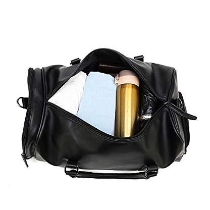 CUIBIRD-40L-Groe-Gym-Sporttasche-Frauen-Leder-Reisetasche-Herren-Duffle-Bag-Wasserdicht-Handgepck-Overnight-Weekender-Tasche-Mit-Schuhfach