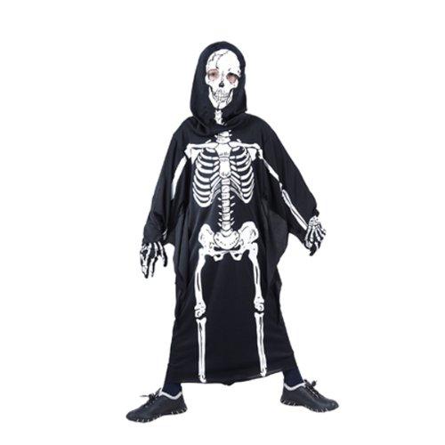 Skelettkostüm Skelett Overall Kostüm Jungen und Mädchen Halloween 7-9 Jahre Art.Nr 86793