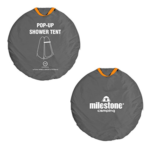 41p QuuPBfL. SS500  - Milestone Camping 14140 Toilet Tent Pop Up Privacy Tent for Outdoor Changing Dressing Fishing Bathing Storage Room Tents, Portable with Carrying Bag, Dark Grey