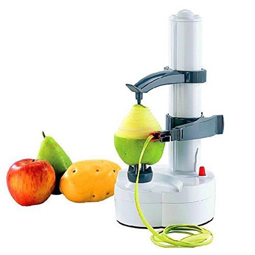 Speedmar UK Mode Wohnkultur Automatischer elektrischer Schäler, elektrisches Auto, das Kartoffel-Schäler-Birnen-Apple-Frucht-Gemüse-Schneider-Schneidmaschine-Küchen-Gerät dreht