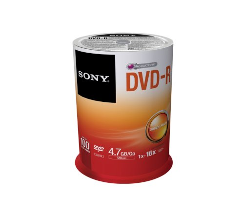Sony DVD-R, 16X, Spindle 100 PCS, 100DMR47SP